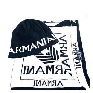 NWOT Armani exchange jeans beanie and scarf set
